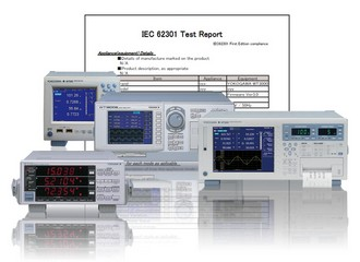 Software carries out standby power consumption measurements according to IEC 62301 standard