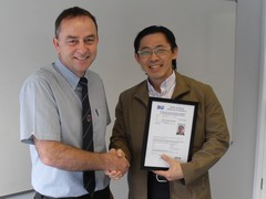 Second person awarded IECEx competence certificate