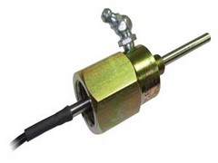 Adjustable depth bearing temperature sensors