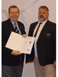 Sean officially received his Certificate from Ron Sinclair, Managing Director of Baseefa, one of the foundation IECEx Certification Bodies for the IECEx CoPC Scheme
