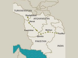 The TAPI pipeline will carry gas from Turkmenistan to Afghanistan, Pakistan and India