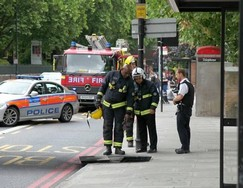 The aftermath of a manhole explosion in Hackney