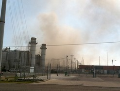 The fire was centred on the refinery's residual hydrotreater unit