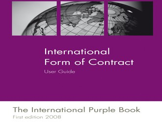 International Forms of Contract User Guide published