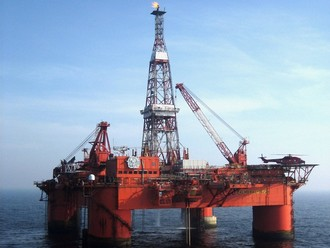 Offshore platform off the coast of Scotland