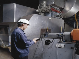 Handheld condition monitoring device detects imbalance in critical tanker exhaust fans