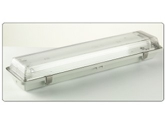 Emergency fluorescent luminaire